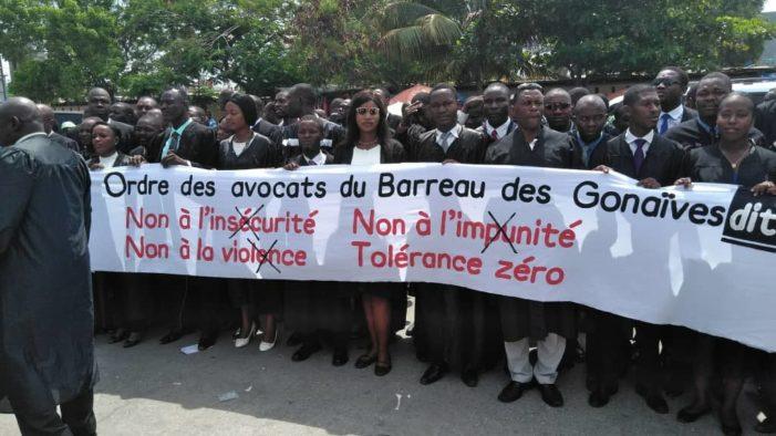 Haiti-Banditisme: Les Avocats ont marché aux Gonaives