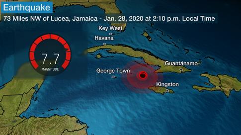 Tremblement de terre de 7.7 entre Cuba et la Jamaique