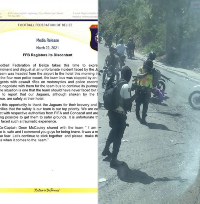Soccer-Haiti: Heavily armed insurgents held up Belize Soccer team in Haiti