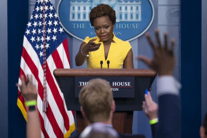 Is Karine Jean-Pierre making history as the first black woman giving White House briefing